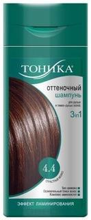 Тоника, Оттеночный шампунь 4.4 Страстный мокко, 150 мл