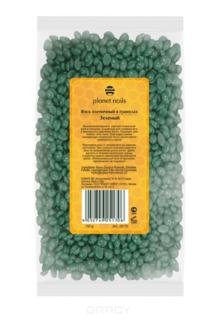 Planet Nails, Воск горячий пленочный в гранулах зеленый Планет Нейлс, 100 г