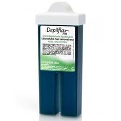 Depilflax, Воск в картридже Азуленовый для тонких и ослабленных волос с узким роликом, 110 гр