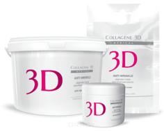 Collagene 3D, Альгинатная маска для лица и тела Anti Wrinkle с экстрактом спирулины, 30 г