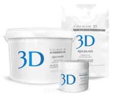 Collagene 3D, Альгинатная маска для лица и тела Aqua Balance с гиалуроновой кислотой, 1200 г