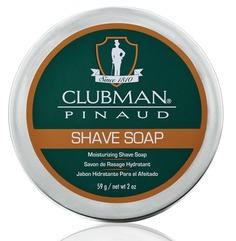 Clubman, Натуральное мыло для бритья Shave Soap, 59 г