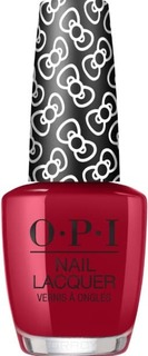 OPI, Лак для ногтей Nail Lacquer, 15 мл (233 цвета) A Kiss on the Ch?c / HELLO KITTY 2019