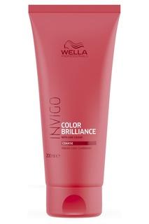 Wella, Бальзам-уход для защиты цвета окрашенных жестких волос Invigo Color Brilliance, 200 мл, 1 л