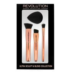 MakeUp Revolution, Набор кистей и спонжа для скульптурирования Ultra Sculpt & Blend Sponge Brush Collection