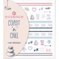 Essence, Наклейки для ногтей Coast n Chill 01 Nail Sticker