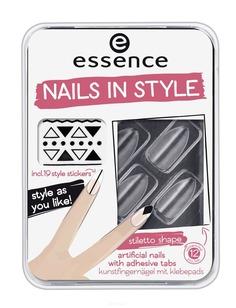 Essence, Накладные ногти на клейкой основе Nails In Style (6 вариантов) №04, прозрачные