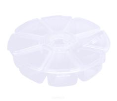 Planet Nails, Контейнер для украшений круглый Планет Нейлс, 1 шт, Белый