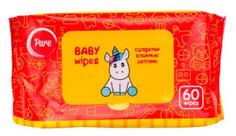 Pure, Салфетки влажные очищающие, детские, 60 шт