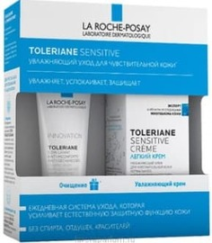 La Roche Posay, Набор: Легкий крем + Очищающий гель-уход Toleriane, 40/50 мл