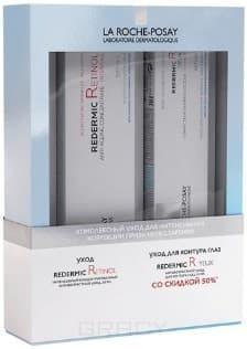 La Roche Posay, Набор: Интенсивный концентрированный антивозрастной уход Redermic Retinol + Антивозрастной уход для контура глаз Redermic R yeux (скидка 50%), 30/15 мл