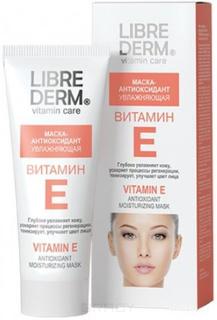 Librederm, Маска-антиоксидант увлажняющая Витамин Е, 75 мл