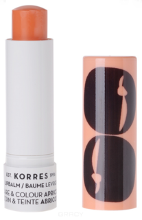 Korres, Бальзам-стик для губ уход и цвет Абрикос, 5 мл