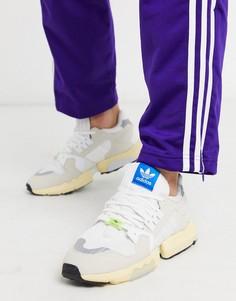 Белые кроссовки adidas Originals ZX torsion-Коричневый