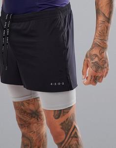 Черно-серые шорты 2 в 1 ASOS 4505-Черный