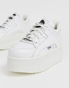 Белые массивные кроссовки на платформе Buffalo-Белый