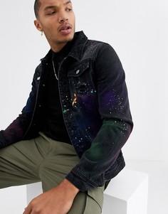 Черная джинсовая куртка с рваной отделкой Good For Nothing-Черный