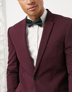 Черный атласный галстук-бабочка ASOS DESIGN