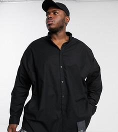 Черная oversize-рубашка COLLUSION Plus-Черный