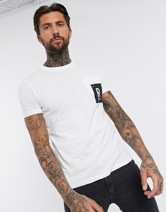 Белая футболка с круглым вырезом и логотипом Replay-Белый