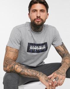 Серая футболка Napapijri Sox-Серый