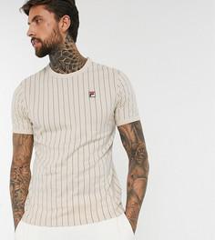 Кремовая футболка в полоску Fila эксклюзивно для ASOS-Кремовый