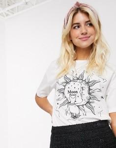 Белая футболка с месяцем Pimkie-Белый