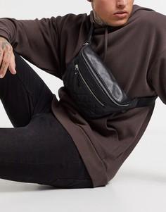 Стеганая сумка-кошелек на пояс Bolongaro Trevor-Черный