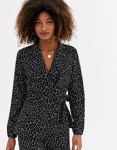 Блузка с запахом, завязкой и принтом AX Paris-Мульти