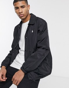 Черная спортивная куртка с логотипом Polo Ralph Lauren-Черный