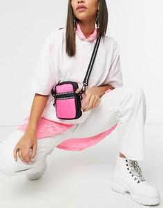 Розово-черная сумка через плечо Vans-Черный