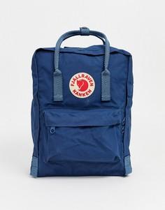 Темно-синий рюкзак с контрастными ручками Fjallraven Kanken, 16 л