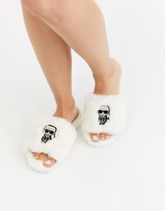 Белые слиперы Karl Lagerfeld-Белый