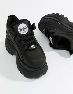 Классические черные низкие кроссовки на платформе Buffalo-Черный