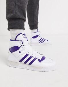 Бело-фиолетовые высокие кроссовки adidas Originals rivalry-Мульти