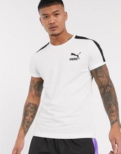 Белая узкая футболка Puma t7-Белый