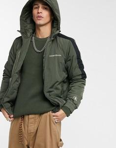 Дутая куртка цвета хаки Calvin Klein Jeans-Зеленый
