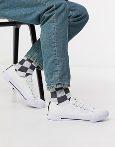 Белые кроссовки Nicce kansas-Белый