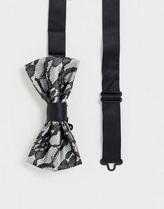 Черный кружевной галстук-бабочка Devils Advocate