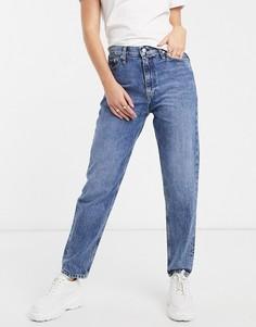 Джинсы в винтажном стиле с завышенной талией Calvin Klein Jeans-Синий