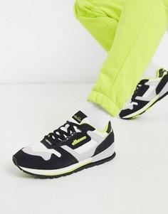 Замшевые кроссовки в стиле колор блок ellesse-Черный