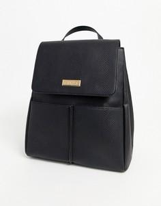 Черный рюкзак с карманом Carvela