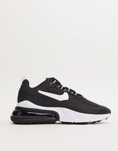 Черные кроссовки с белыми вставками Nike Air Max 270 React-Черный