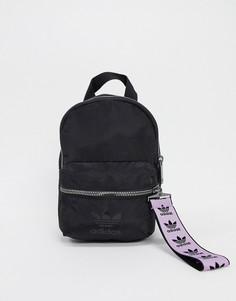 Черно-лавандовый мини-рюкзак с логотипом-трилистником adidas Originals-Мульти