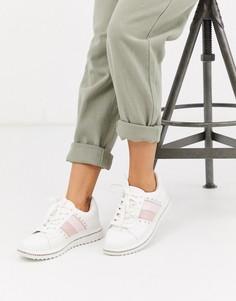 Белые кроссовки на массивной подошве ASOS DESIGN-Белый