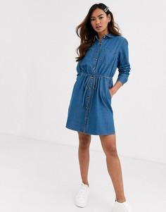 Джинсовое платье-рубашка Brave Soul-Синий