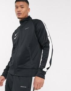 Черная спортивная куртка с логотипом-галочкой Nike-Черный
