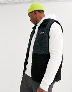 Черный зимний флисовый жилет Nike