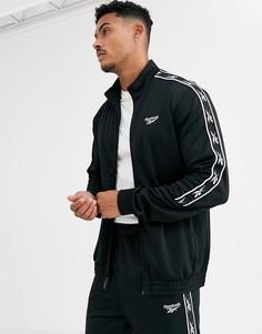 Черная спортивная куртка с логотипом Reebok-Черный