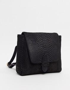 Кожаный рюкзак Urbancode-Черный